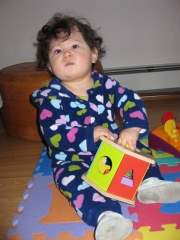 12/03 Juliette loves to play with this toy
